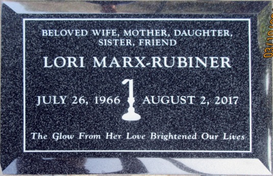 Lori Marx-Rubiner Memorial Tablet copy